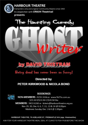 Ghost Writer on at Harbour Theatre Fremantle